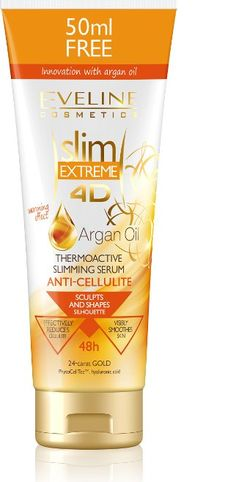 Eveline Cosmetics Slim Extreme 4d Argan Oil Thermo Slimming Cellulite Serum from Eveline Cosmetics