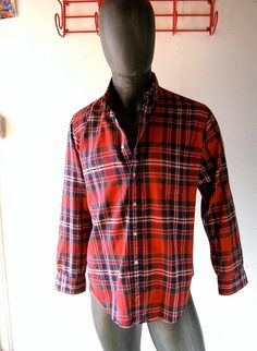 Vintage Brooks Brothers mens Scotch plaid flannel by GreatGuyGifts, $36.50