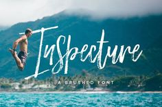 Inspecture Brush Font by Dhan Studio on @creativemarket
