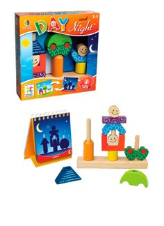 Help your child work on their problems solving skills with the SmartGames Day and Night Preschool Puzzle Game. Try to recreate the puzzles you see in the challenges book for a fun unique twist on a classic puzzle game. Preschool Puzzles, Brain Teaser Puzzles, Logic Games, Game Sales, Single Player, Wooden Puzzles, Wooden Toys, Wooden Blocks, Brain Teasers