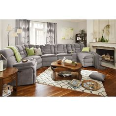 Living Room Furniture - Big Softie Power Reclining Sectional with Right-Facing Chaise - Gray Living Room Sectional, Living Room Seating, Living Room Sofa, Sectional Sofa, Living Room Furniture, Home Furniture, Living Room Decor, Modern Furniture, Rustic Furniture
