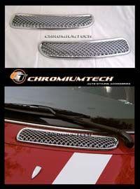 01-06 MINI Cooper Chrome Bonnet Pollen Hood Air Vent Scoop - Chromiumtech Limited