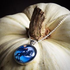 Headless Horseman Necklace Halloween Pendant by LizzieMPress
