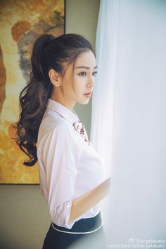 baby ulzzang B ri Hunh Hiu Minh, Angelababy tnh t bn trai Beautiful Asian Women, Pretty Asian, Korean Beauty, Asian Beauty, Pretty People, Beautiful People, Girl Pictures, Girl Photos, Girl Fashion