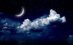 Beautiful Moon Night Clouds Wallpaper HD Of Beautiful Night Aesthetic Space, Night Aesthetic, Aesthetic Gif, Blue Aesthetic Tumblr, Night Clouds, Night Skies, Cloud Wallpaper, Windows Wallpaper, Emoji Wallpaper