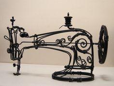 Escultura de fio de anatolto (Anatoly Tonev) / sewing Machine Sculture