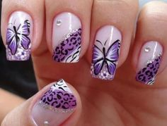 Animal print/Butterfly nail art