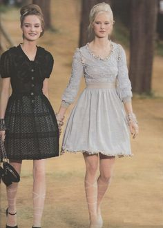 Dresses. And look at those tights!