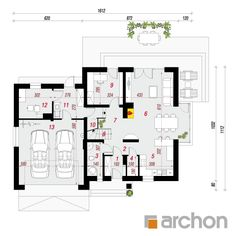 Dom w tamaryszkach 2 Floor Plans, Home Decor, Templates, Houses, Projects, Decoration Home, Room Decor, Home Interior Design, Floor Plan Drawing