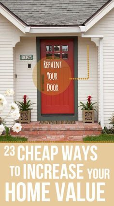 Affordbale Home Upgrades - 23 Cheap Upgrades That Will Actually Increase The Value of Your Home - Affordable upgrades to make your home look expensive Home Selling Tips, Selling Your House, Renting Out Your House, Home Improvement Projects, Home Projects, Weekend Projects, Home Renovation, Home Remodeling, Remodeling Contractors