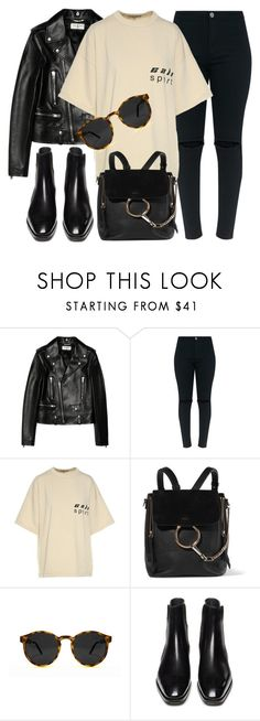 """""""Free Spirit"""" by smartbuyglasses-uk ❤ liked on Polyvore featuring Yves Saint Laurent, Yeezy by Kanye West, Chloé, Spitfire and black"""
