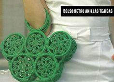 bolso con anillas tejido a crochet