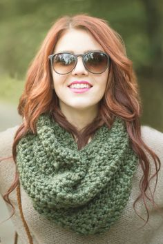 Circle Scarf, Top, Hair, Glasses, Infinity Scarf, Crochet, Etsy, By Sorcha