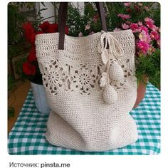 Grandiosos diseños de bolsas tejidas a crochet paso a paso - Tejidos a crochet paso a paso - Stricken anleitungen,Stricken einfach,Stricken ideen,Stricken tiere,Stricken strickjacke Crochet Fabric, Crochet Tote, Crochet Handbags, Crochet Purses, Crochet Gifts, Crochet Stitches, Knit Crochet, Crochet Patterns, Crochet Designs