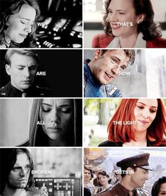"""""""We are all broken, that's how the light gets in."""" #marvel"""