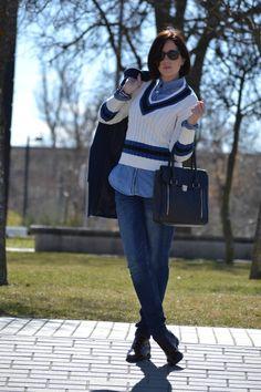 Victim of my closet: Total denim + suéter #kissmylook