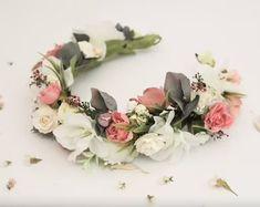 Wedding Flower Crowns and Bridal Headpieces от LisaUaShop на Etsy Bridal Bouquet Blue, Flower Headpiece Wedding, Floral Crown Wedding, Dusty Rose Wedding, Floral Headpiece, Bridesmaid Flowers, Bridal Flowers, Bridal Headpieces, Big Flowers