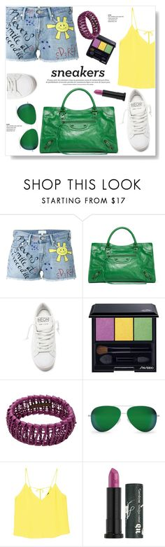 """Sunny Days"" by viola279 ❤ liked on Polyvore featuring Mira Mikati, Balenciaga, Golden Goose, Shiseido, Marni, Victoria Beckham, MANGO, Urban Decay and whitesneakers"