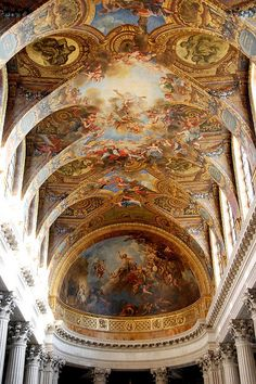 Versailles....Versailles  Versailles - Royal Chapel Ceiling (2nd floor view) by WVJazzman on Flickr