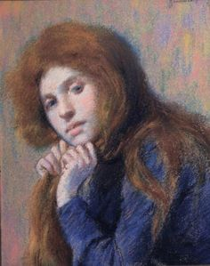 Zandomeneghi, Federico (1841-1917)    pastello su carta, 32 x 41