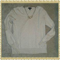Talbots Cream Cashmere Sweater Cream colored size small petite. 15% cashmere, 85% pima cotton. V neck, true to size. Super soft, like new. Talbots Sweaters V-Necks