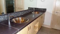 Bathroom Vanity Backsplash Ideas New 20 Eye Catching Bathroom Backsplash Ideas Pedestal Sink Bathroom, Bathroom Spa, Master Bathroom, Bathroom Ideas, Bathroom Vanities, Sinks, Vanity Backsplash, Backsplash Ideas, Cowboy Bathroom