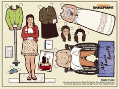 Maeby Funke - Arrested Development - Paper Doll by Kyle Hilton//Arrested Development (2003)