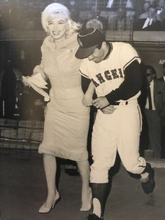 Marilyn's last public appearance at Dodger Stadium 6-1-1962 her b/day