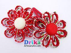 flores-de-tecido-feitas-com-vies-13 Handmade Flowers, Diy Flowers, Fabric Flowers, How To Make Bows, Baby Sewing, Diy Paper, Decoration, Headbands, Tassels