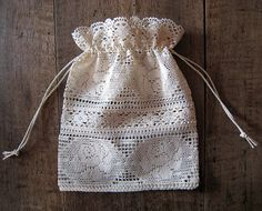 lace gift bag