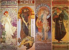 mucha art | Cartazes de Sarah Bernhardt