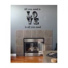 Beatles All you need is Love 22x24 wall saying vinyl lettering via Etsy