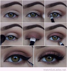 Brown and black eye makeup tutorial