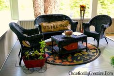 Front Porch Makeover | Chaotically Creative (Read how much she paid to create this setting! Very inspiring!)