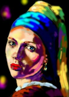 'Girl With a Pearl Earring' Parody by Peter Klashorst