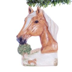 Personalized Horse Christmas Ornament  Palemino by Christmaskeeper, $13.95