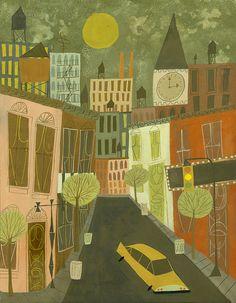 Matte Stephens Print- Greenwich Village      http://www.etsy.com/listing/87817966/greenwich-village-limited-edition-13x19