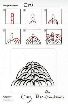 Zazi. Zentangle Patterns by Cindy Pope / peaceofshine.