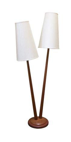 Teak tree floor lamp. $2500