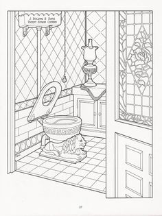 Victorian House Printable Coloring Book Page John Anderton In Chicopee Falls MA