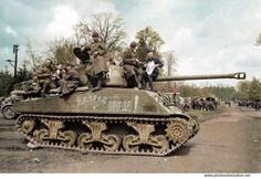 "Soviet tank ""Sherman"" in the German town of Grabow, Germany ,May3th, 1945 / Советский танк ""Шерман"" в немецком городке Грабов, Германия 3 мая 1945 года"
