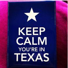 Yup. I'm in Texas.  :)