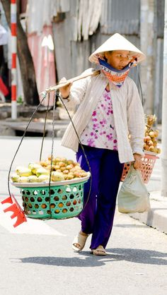 Fruit Vendor in Saigon, Vietnam