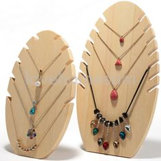 £9.25 GBP - Natural Wooden Tree Jewellery Display Holder Necklaces Pendant Stand Showcase #ebay #Fashion