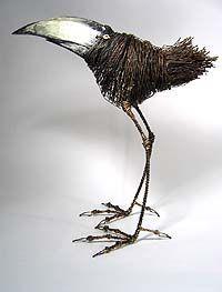 Wire sculptor, Thomas Hill - velvetdavinci.com/images/hillblackbeakweb.jpg