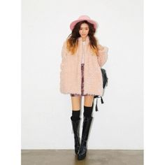 faux fur coat - pink fluffy! fluffy pink faux fur coat. one size fits all. brand new with tags, unworn. purchased and was sent the incorrect item but too expensive to ship back to Korea! xx Jackets & Coats Pea Coats