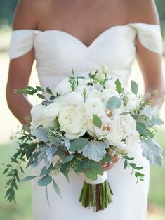 "White wedding bouquet.    The Bride Guide; Styling your wedding with Pantone colour of the year ""greenery with Maggie Sottero wedding dresses""     www.raffaeleciuca.com.au  Raffaele Ciuca Bridal  Melbourne, Australia"