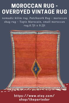 Moroccan Rug - overdyed vintage rug, nomadic kilim rug! Colorful moroccan rugs, moroccan rug living room, vintage moroccan rugs, moroccan rug bedroom, pink moroccan rug, white moroccan rug, red moroccan rug, grey moroccan rug, moroccan rug decor, round moroccan rug, moroccan rug wall hanging, boho moroccan rug, moroccan rug office, plush moroccan rug, small moroccan rug, outdoor moroccan rug. #vintagemoroccanrugs #moroccanrugbedroom #whitemoroccanrug #modernmoroccanrug Moroccan Berber Rug, Patchwork Rugs, Rug Shapes, Wool Area Rugs, Kilim Rugs, Vintage Rugs, Plush, Colorful, Boho