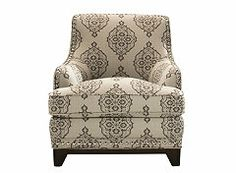 Quentin Accent Chair ~ Raymour & Flanigan  I like this as an accent chair.  Thinking about it.