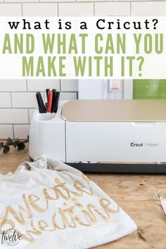 What is a Cricut machine and what does it do? #ad I am answering all your questions and sharing tons of great info to help choose the machine that is right for you! #cricutmade #cricut Cool Diy Projects, Vinyl Projects, Project Ideas, Craft Projects, Cricut Craft Machine, Cricut Craft Room, Easy Crafts For Kids, Crafts To Do, Organizing Labels